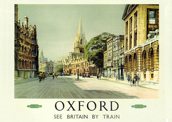 High Street, Oxford, Greeting Card by Alan Carr Linford - Thumbnail