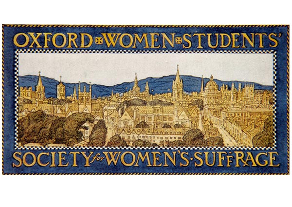 Oxford Women Students' Society for Women's Suffrage, Greeting Card by E. H. New - Thumbnail