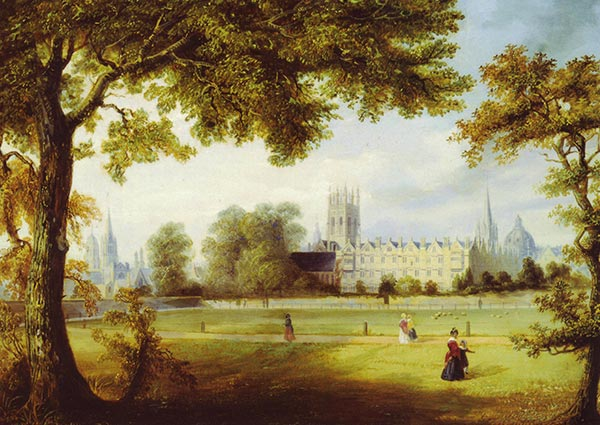 Christ Church from Merton Fields, Oxford, Greeting Card by Richard Bankes Harraden - Thumbnail