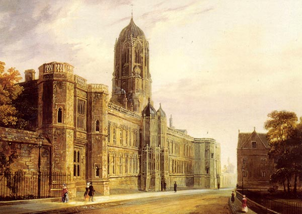 Christ Church Oxford, Greeting Card by J. Murray Ince - Thumbnail