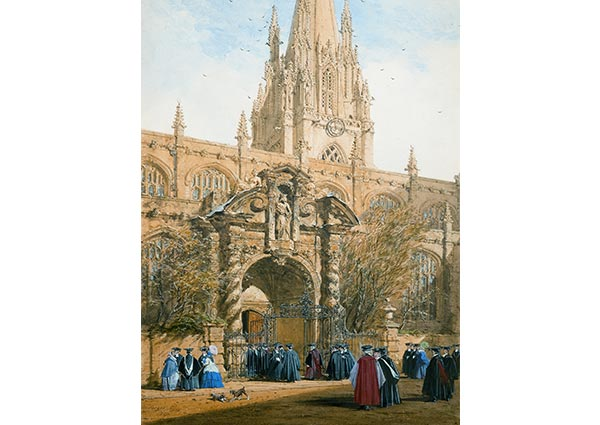 St Mary's, Oxford, Greeting Card by Joseph Nash - Thumbnail