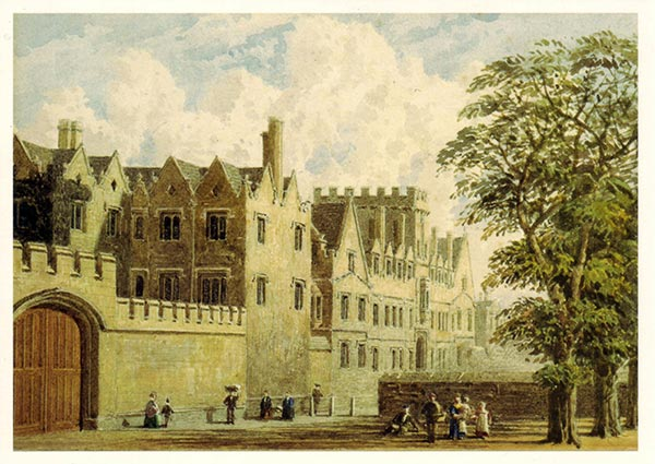 St John's College from St Giles, Oxford, Greeting Card by George Pyne - Thumbnail