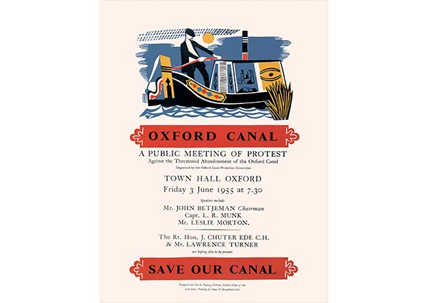 Save Our Canal, Oxford, Greeting Card by Patrick Osborne - Thumbnail
