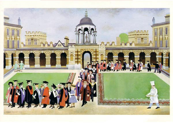 Going to the Garden Party, Oxford, Greeting Card by Alfred Daniels - Thumbnail