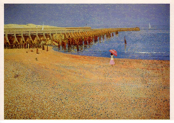 On Walberwsick Beach, Greeting Card by Lionel Bulmer - Thumbnail