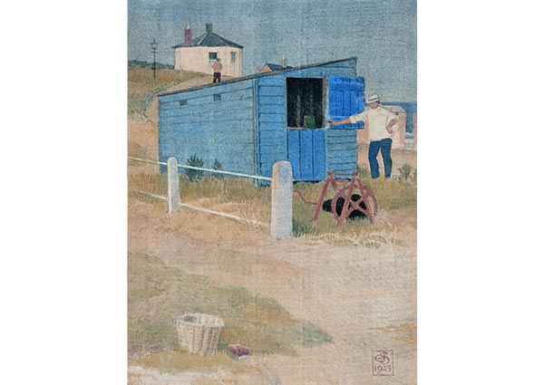 The Blue Shed, Southwold, Greeting Card by Joseph Southall - Thumbnail