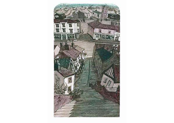Aldeburgh Steps, Greeting Card by Glynn Thomas - Thumbnail