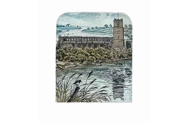 Blythburgh Church, Greeting Card by Glynn Thomas - Thumbnail
