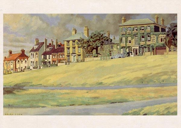Constitution Hill, Southwold, Greeting Card by Brian Cook Batsford - Thumbnail