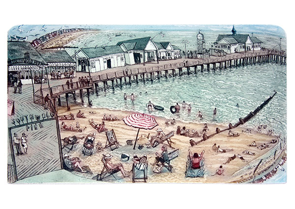 Southwold Pier, Greeting Card by Glynn Thomas - Thumbnail