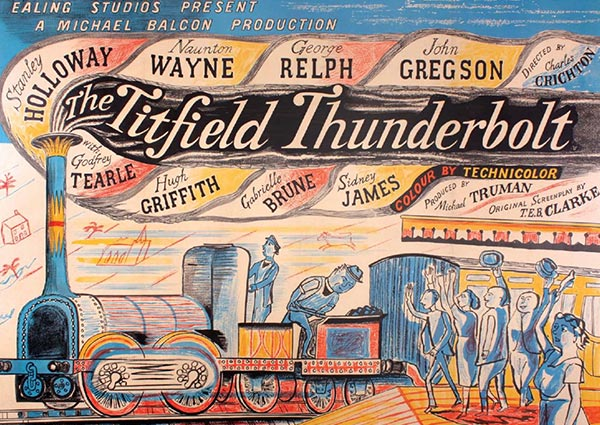 The Titfield Thunderbolt, Greeting Card by Edward Bawden - Thumbnail