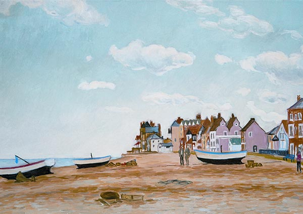 Aldeburgh Beach, Greeting Card by Victoria Parker-Jervis - Thumbnail