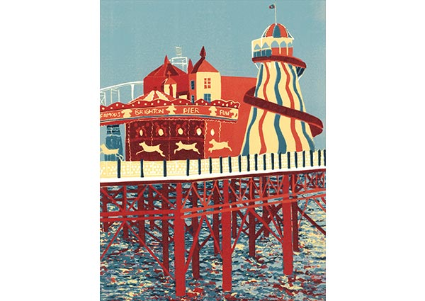 The End of the Pier (Brighton), Greeting Card by Jennie Ing - Thumbnail