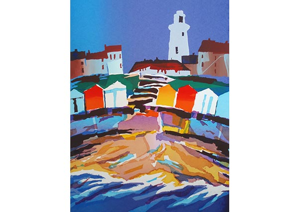 The Lighthouse, Southwold, Greeting Card by Martin Laurence - Thumbnail