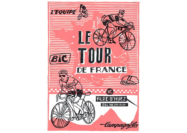 Tour de France, Greeting Card by Will Webb - Thumbnail