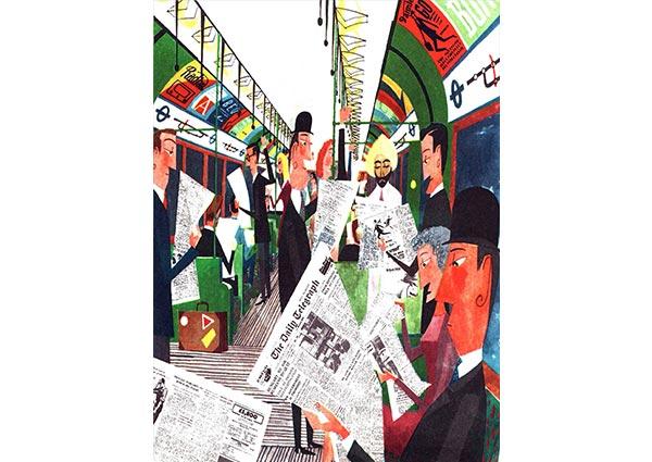 The London Underground, Greeting Card by Miroslav Sasek - Thumbnail