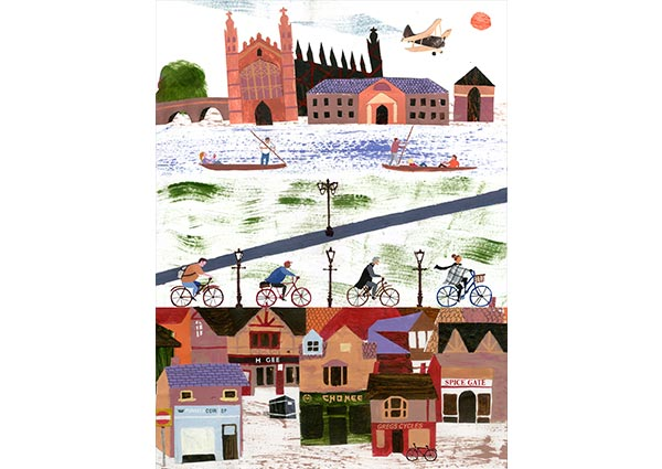 Cambridge Life, Greeting Card by Sophie Wainwright - Thumbnail