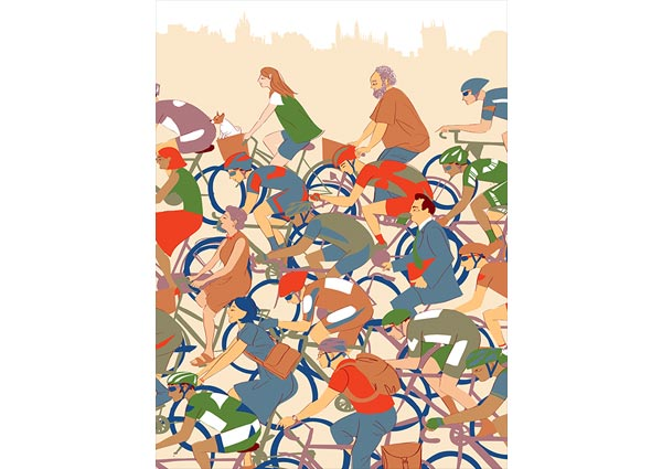 Tour de France, Greeting Card by Sophie Wainwright - Thumbnail