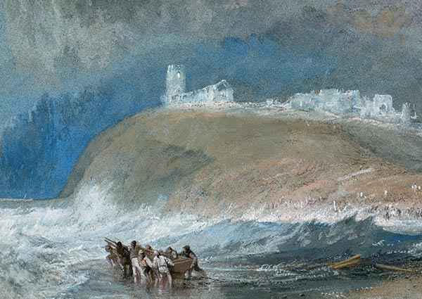 Dunwich, Suffolk, Greeting Card by J. M. W. Turner - Thumbnail