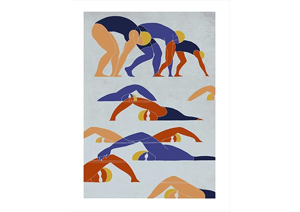 Swimmers, Greeting Card by Eliza Southwood - Thumbnail