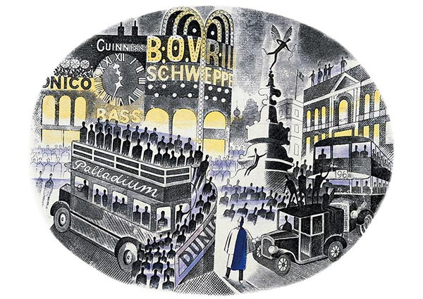 Boat Race Day, Greeting Card by Eric Ravilious - Thumbnail