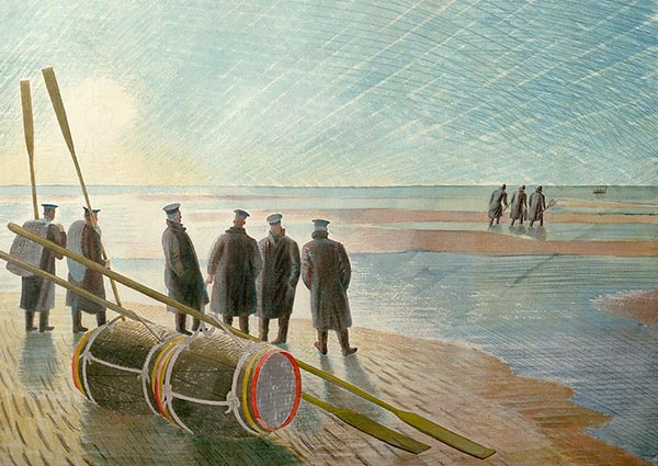 Dangerous Work at Low Tide, Greeting Card by Eric Ravilious - Thumbnail