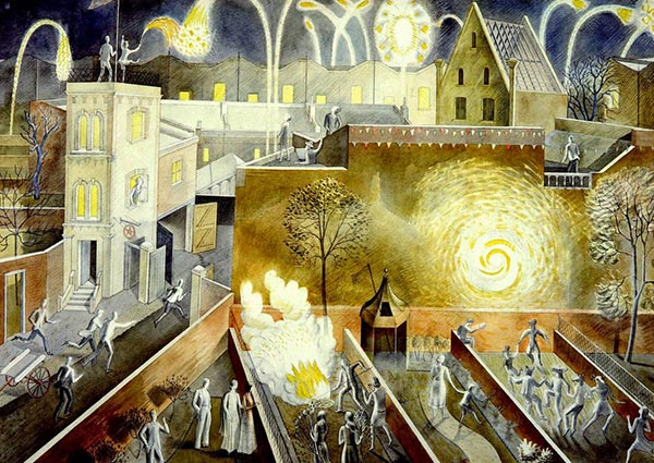 November 5th, Greeting Card by Eric Ravilious - Thumbnail