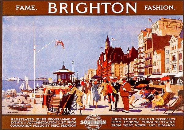 Brighton Fame and Fashion, Greeting Card by Henry George Gawthorn - Thumbnail
