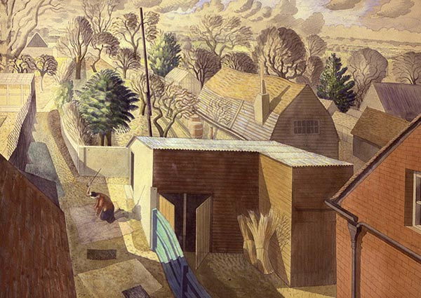 Prospect from an Attic, Greeting Card by Eric Ravilious - Thumbnail