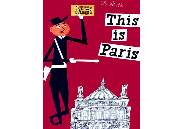 This is Paris, Greeting Card by Miroslav Sasek - Thumbnail