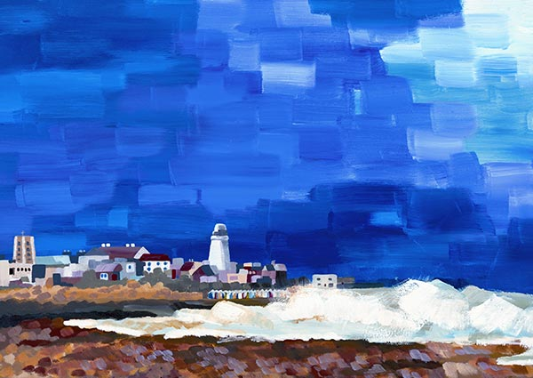 Southwold, Greeting Card by Serena Hall - Thumbnail