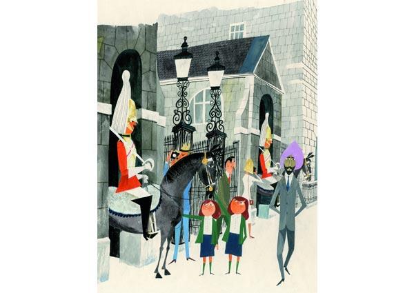 Horse Guards, Greeting Card by Miroslav Sasek - Thumbnail