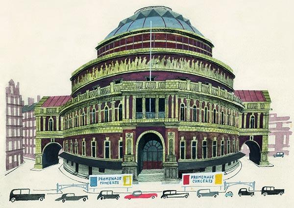Royal Albert Hall, Greeting Card by Miroslav Sasek - Thumbnail