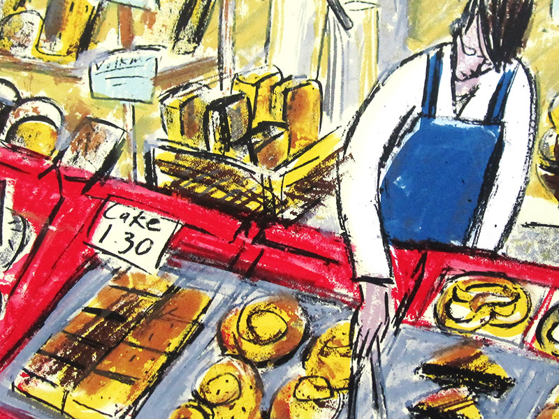 Bakery, Greeting Card by Rachel Clark - Featured on Mobile Devices