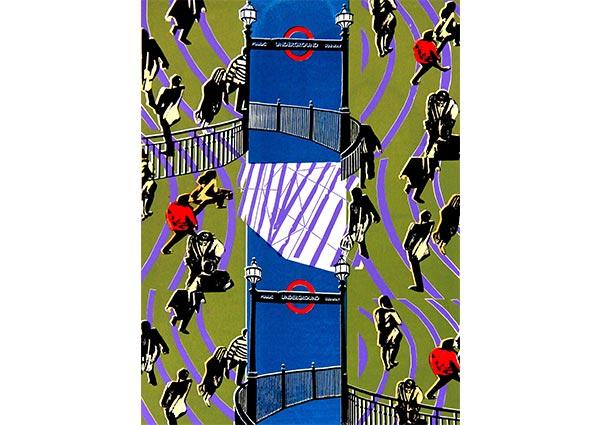 Canary Wharf, Greeting Card by Eileen St Julian-Bown - Thumbnail