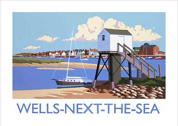 Wells-Next-The-Sea, Greeting Card by David Kirk - Thumbnail