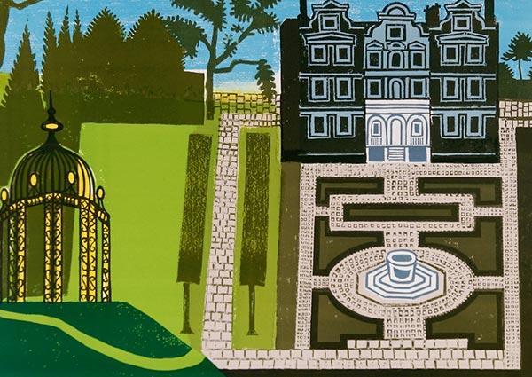 Queen's Garden, Greeting Card by Edward Bawden - Thumbnail