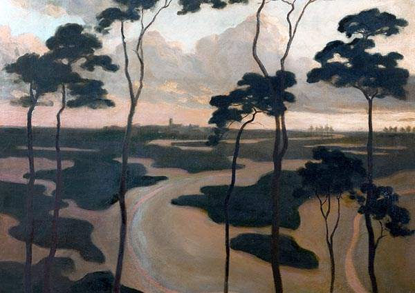 Blythburgh Estuary, Suffolk, Greeting Card by Roger Fry - Thumbnail
