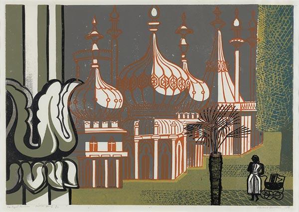 Royal Pavilion, Brighton, Greeting Card by Edward Bawden - Thumbnail