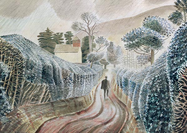 Wet Afternoon, Greeting Card by Eric Ravilious - Thumbnail