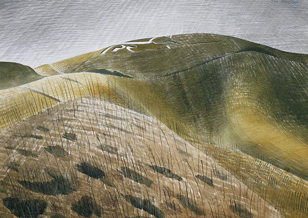 The Vale of the White Horse, Greeting Card by Eric Ravilious - Thumbnail