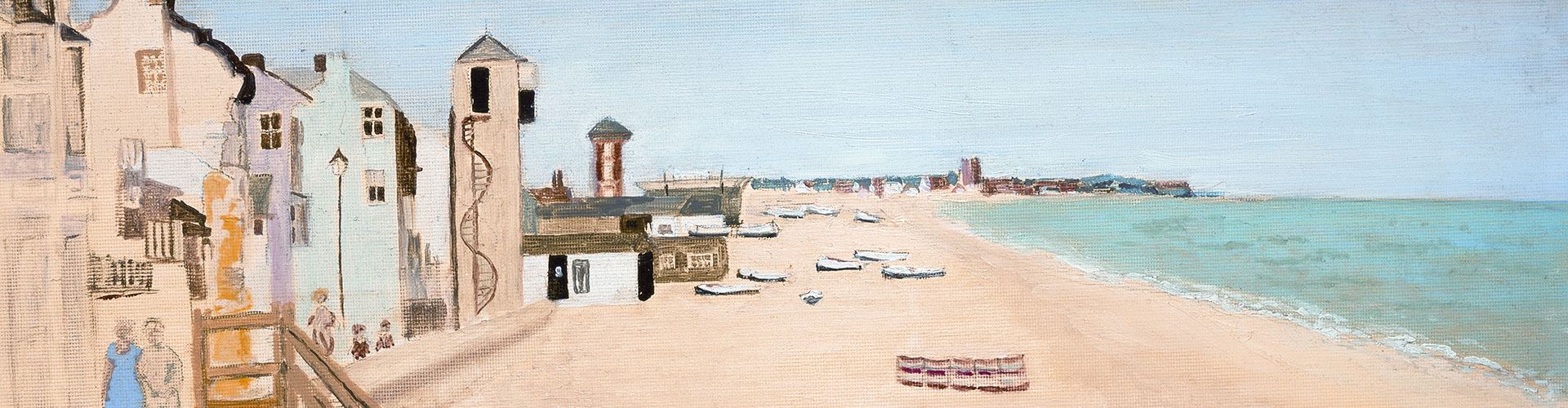 Aldeburgh Beach, August, Greeting Card by Susanna Stanley - Featured on Desktop Devices