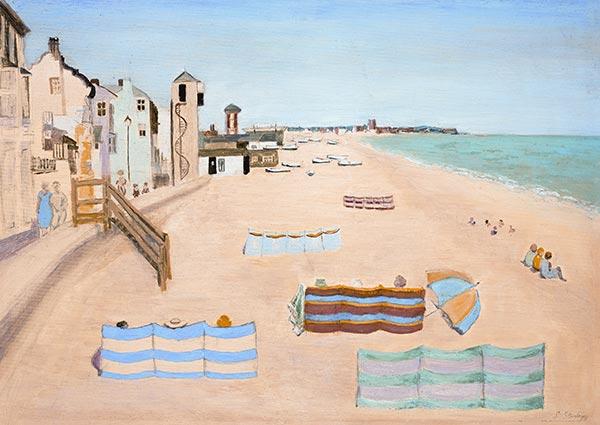 Aldeburgh Beach, August, Greeting Card by Susanna Stanley - Thumbnail