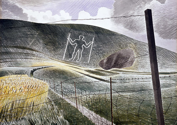The Wilmington Giant, Greeting Card by Eric Ravilious - Thumbnail