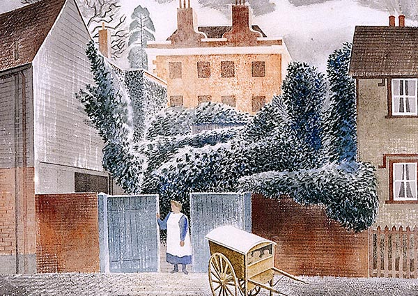 The Vicarage, Greeting Card by Eric Ravilious - Thumbnail
