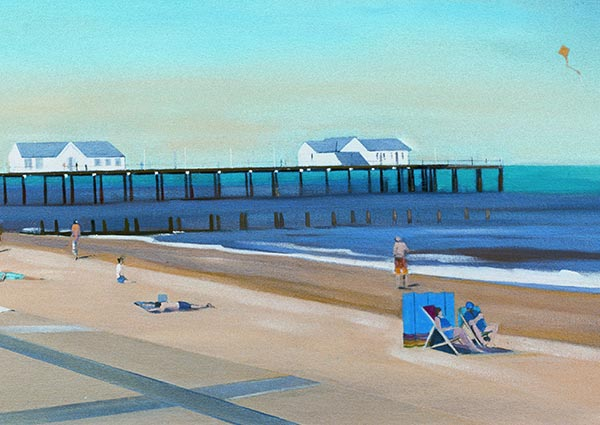 Southwold Summer, Greeting Card by Katherine Hamilton - Thumbnail