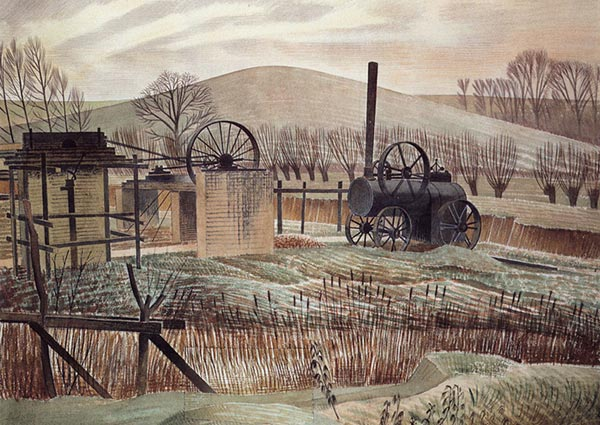 The Brickyard, Greeting Card by Eric Ravilious - Thumbnail