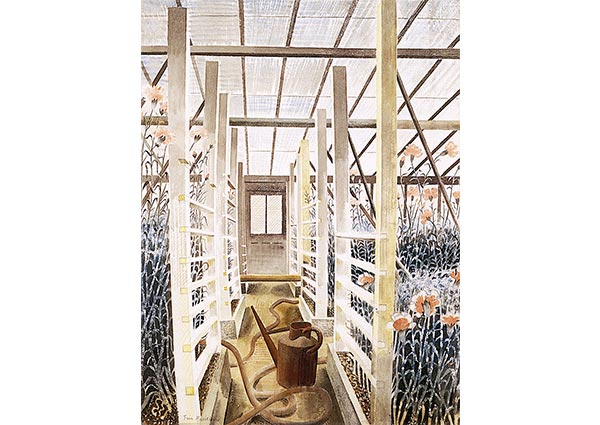 The Carnation House, Greeting Card by Eric Ravilious - Thumbnail