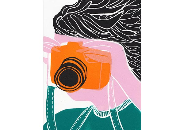 Camera, Greeting Card by Hannah Forward - Thumbnail
