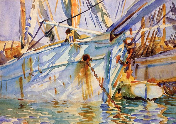 In a Levantine Port, Greeting Card by John Singer Sargent - Thumbnail